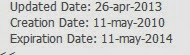 Photo: ภาพแสดง วันที่จดทะเบียน โดเมน www.kolseeds.com Updated Date : วันที่ต่อทะเบียน 26 เม.ย.2556 Creation Date: วันที่เริ่มจดทะเบียน 11 พ.ค. 2553 Expiration Date: วันที่หมดอายุ 11 พ.ค. 2557  ที่มา : www.whois.net (โดยกรอก โดเมน www.kolseeds.com ค่ะ)
