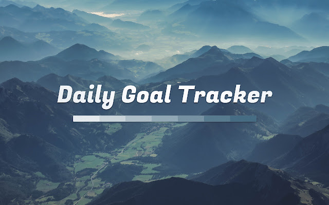 track your goals in your new tab page mark each day complete and see your progress