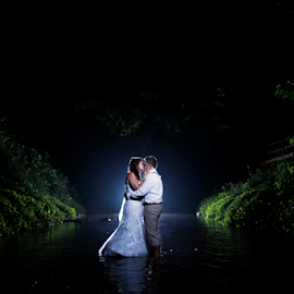 River by Lood Goosen (LWG Photo) - Wedding Bride & Groom ( wedding photography, wedding photographers, wedding day, weddings, wedding, bride and groom, wedding photographer, bride, groom, night shoot, bride groom )