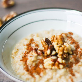 Cinnamon and Walnut Porridge.