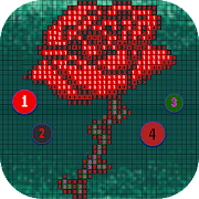 Flower Pixel Art - Draw Fower by Number icon