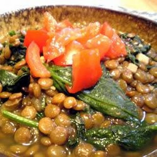 Lentils And Spinach