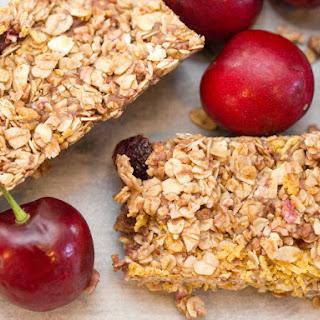 No Bake Nut Free Chocolate Chip Cherry Granola Bars