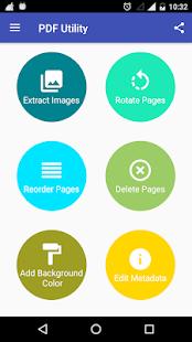 PDF Utility - PDF Tools - PDF Reader Screenshot