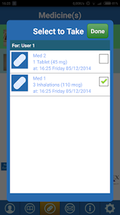 CF MedCare Reminder App- screenshot thumbnail