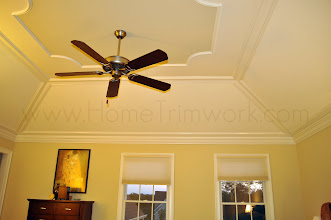 Photo: (After) Hamilton's Master Bedroom Tray ceiling boards and crown molding Collegeville, PA