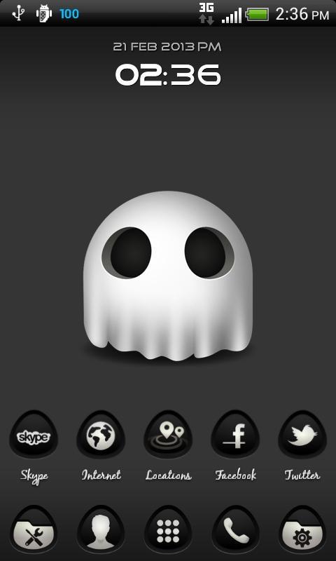Скриншот The Ghost Nova/Apex/ADW Theme
