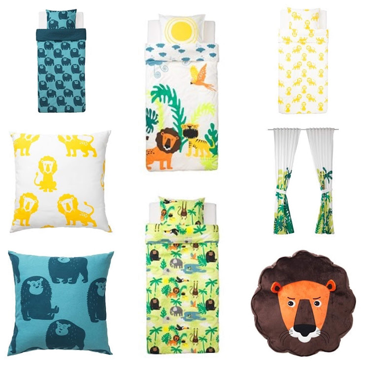 8-sorbos-de-inspiracion-ikea-2019-catalogo-ikea-2019-nuevo-catalogo-ikea-2019-colección-djungleskog-textiles-cojines-leon-tigre-chimpace-cortinas-edredones