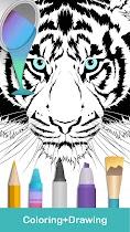Coloring pages:Animals Mandala - screenshot thumbnail 01