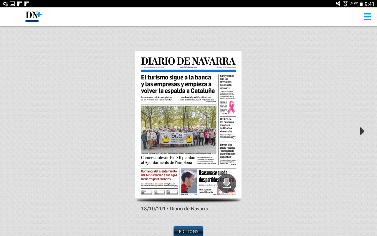 Diario de Navarra  DN+ Tablet- screenshot