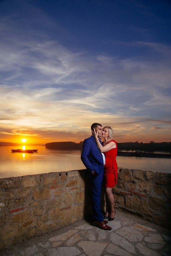 M & G by Bugarin Dejan - Wedding Bride & Groom ( photographers, colors, beautiful, beauty, sunlight, pretty, posing, danube, photography, portrait, love, sky, happy, wedding, sunset, serbia, couple, light, river )