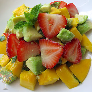 Mango Avocado Strawberry Salad.