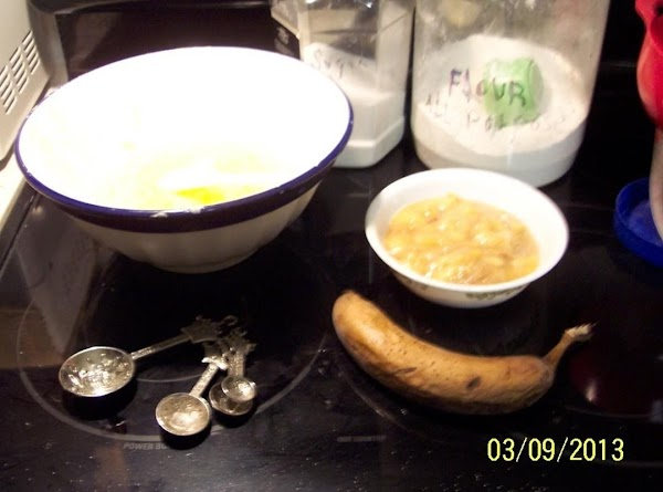 In a large bowl, cream together the  softened butter and sugar until fluffy.