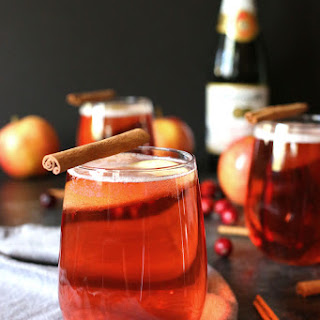 Apple Cinnamon Cranberry Mimosa (or Fauxmosa)