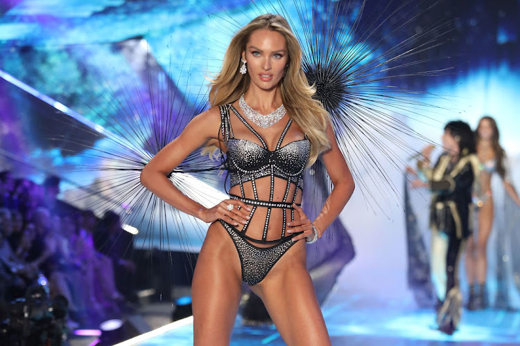 SA supermodel Candice Swanepoel walks the runway during the 2018 Victoria's Secret Fashion Show on November 8 in New York City.
