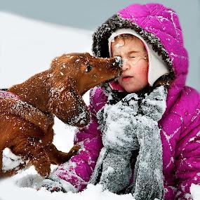 Toddlers by Irene Orloff - Babies & Children Children Candids ( winter, children, show, dog )