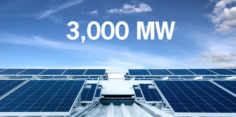 3,000 MW