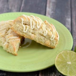White Chocolate Lime Scones