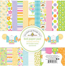 Doodlebug Double-Sided Paper Pad 6X6 24/Pkg - Simply Spring