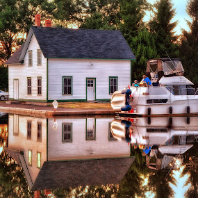 Simply Reflectons by Salehin Chowdhury - City,  Street & Park  City Parks ( park, reflections, waterscapes, homes, river )