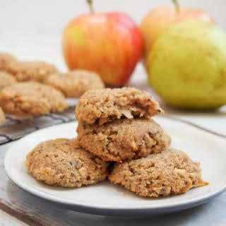 Healthy apple oatmeal cookies (GF, vegan).