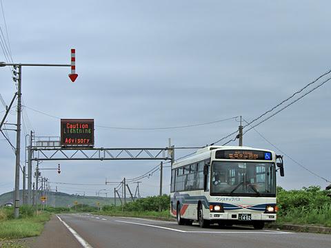 沿岸バス「豊富留萌線」 1402 上平バス停にて