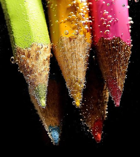 Pencils by Vineet Johri - Artistic Objects Still Life ( water, vkumar, sharp, bubbles, pencils,  )