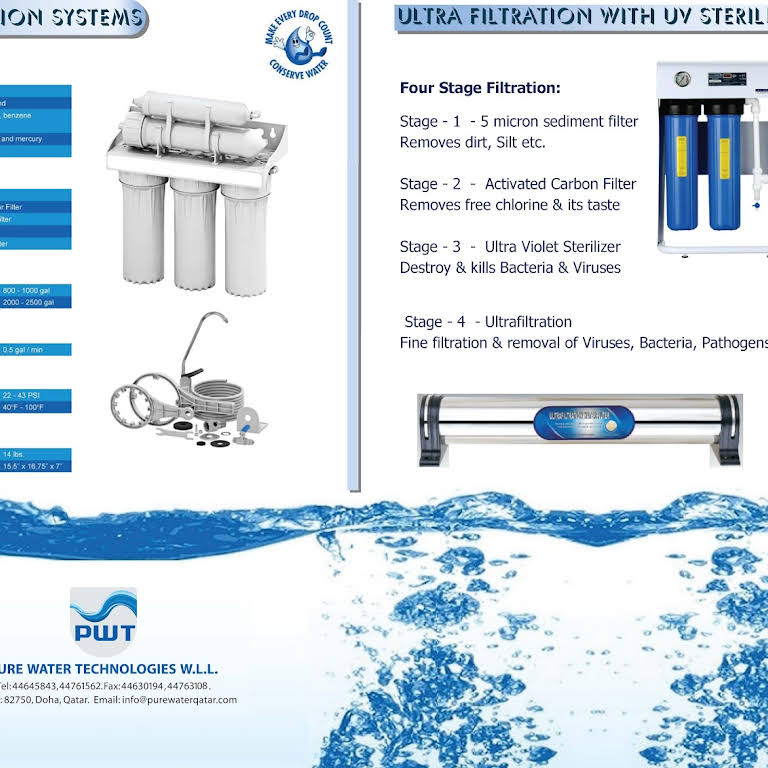 PURE WATER TECHNOLOGIES W L L  - Water Treatment Plants - Made in Qatar
