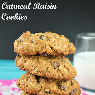 Whole Wheat Oatmeal Raisin Cookies.