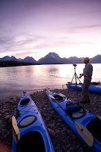 Photo: Photographing Jackson Lake in Grand Teton National Park, WY.