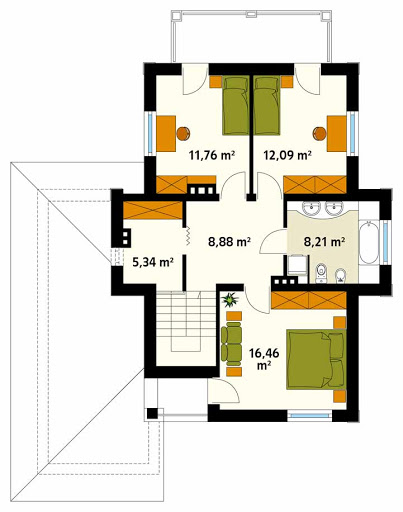 Cyprys CE - Rzut piętra