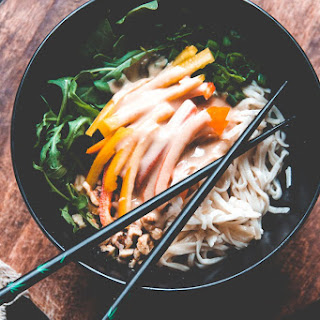 Rice Noodle Salad with Lime Tahini Dressing Recipe