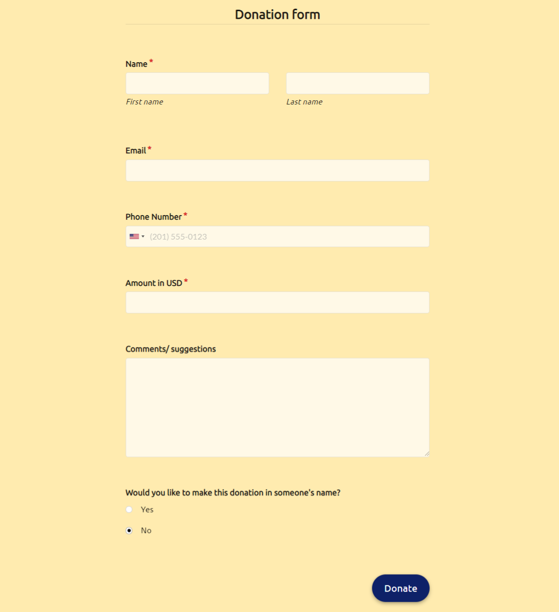 24 Free Donation Form Template + [Request Letter] With Regard To Fundraising Pledge Card Template