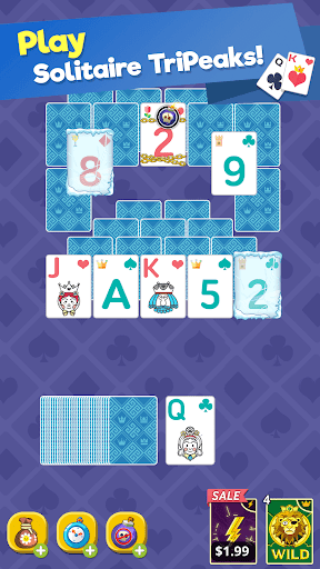 Theme Solitaire Tripeaks Tri Tower: Free card game 1.3.4 Screenshots 3