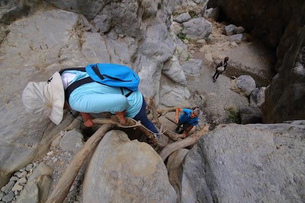 Pasaj de catarare în canionul Sarakinas