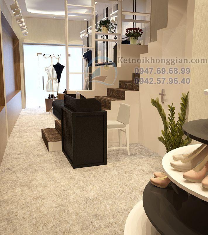 thiết kế shop giày dép đẹp, thiết kế shop thời trang cao cấp