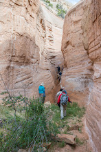 Photo: Echo North Slot Canyon; PEEC Slot canyons hike with Doug Scott