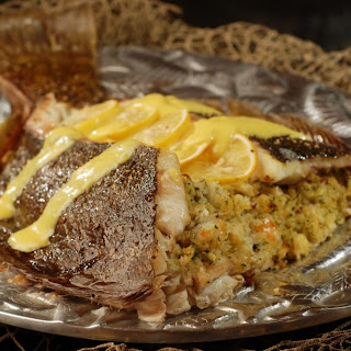 Whole Flounder Stuffed with Crab and Shrimp (#Fish Friday Foodies).