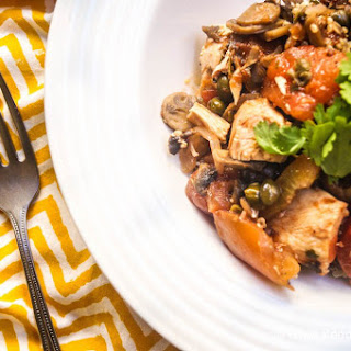 Sunday Slow Cooker: Chicken Cacciatore with Mushrooms.