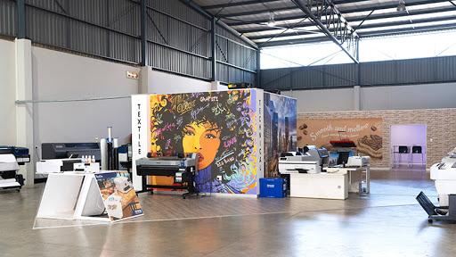 Epson's large format printer showroom.