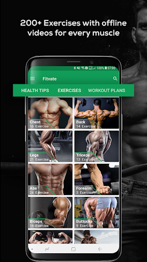 Fitvate - Home & Gym Workout Trainer Fitness Plans 6.8 screenshots 1