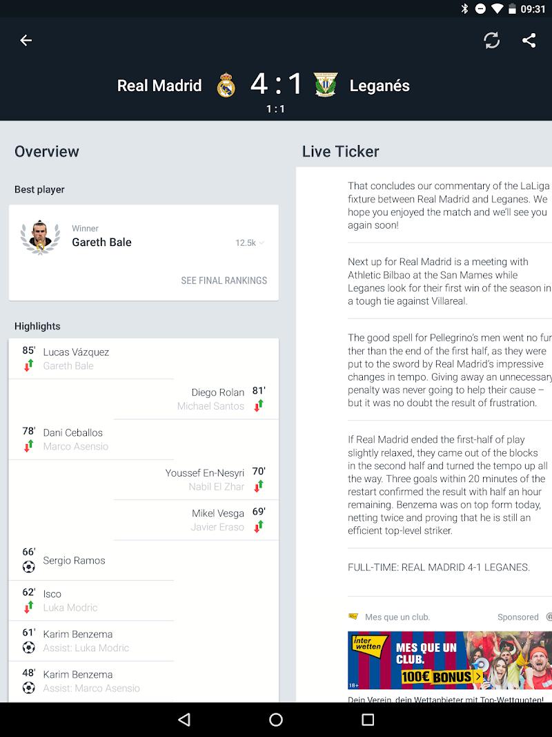 Onefootball - Soccer Scores Screenshot 13