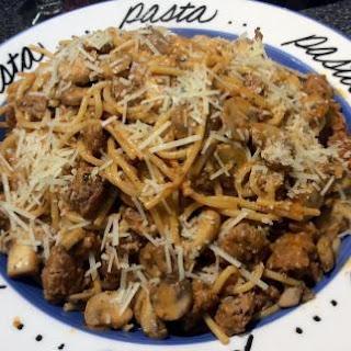 Spaghetti with Sausage-Mushroom Sauce