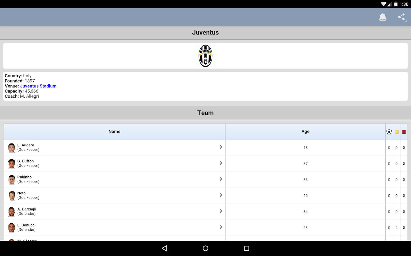 Serie A- screenshot