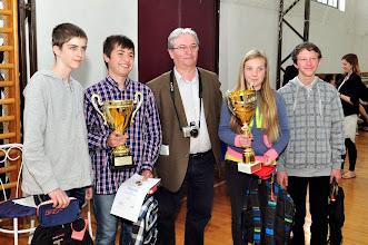 Photo: Hetvehely csapata Wágner Antal polgármester úrral és az 1. hely kupáival
