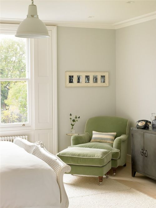Dreamy Green at the Bedroom Corner
