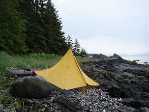 Photo: Campsite on Whitney Island in Stephens Passage.