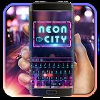 霓虹城市美麗的夜晚,车水马龙,觥筹交错,嘈杂喧嚣激情燃烧的夜,躁动着不一样的美丽鍵盤 icon