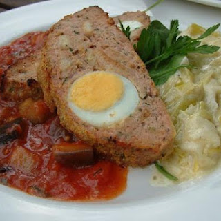 Italian Meatloaf with Hard Boiled Eggs