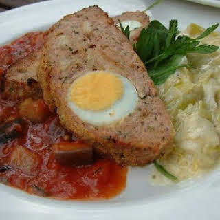 Italian Meatloaf with Hard Boiled Eggs.